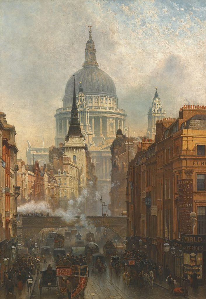 800px-john_oconnor_-_ludgate_evening_-_1887-1