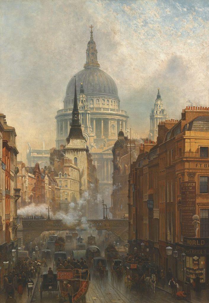800px-john_oconnor_-_ludgate_evening_-_1887-1